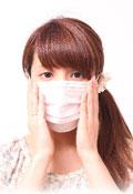 マスクの女性